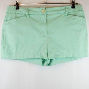 Lands End Shorts Flat Front Fit 2 Mint Green